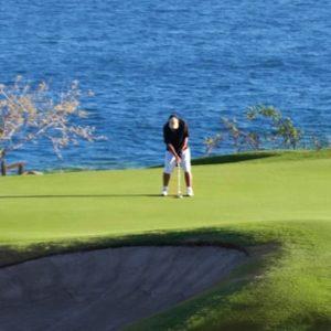 Green on hole 3 of Puerto Los Cabos golf club questro golf cabo san lucas