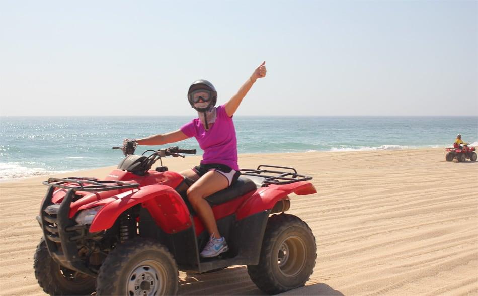 Cabo ATV Tours on the beaches by Cactus Tours Amigos Tours and Wild Canyon