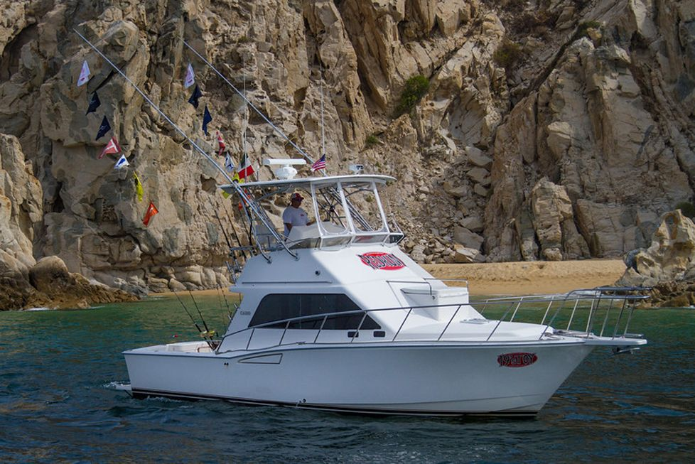 19s toy 35ft Cabo sportfisher in Cabo San lucas best marlin fishing los cabos RedRum sportfishing